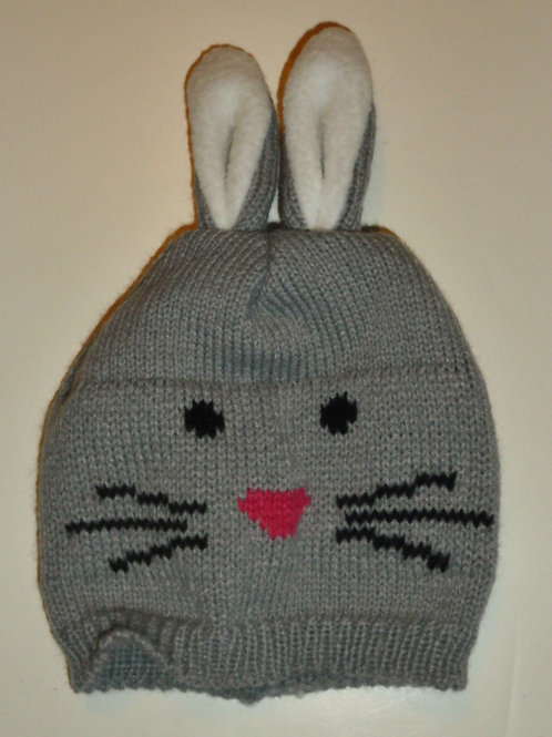 So 'Dorable knit hat gray/bunny size N