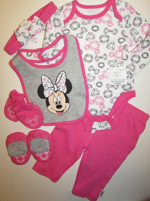 Disney Minnie pink/white size 0-3 m
