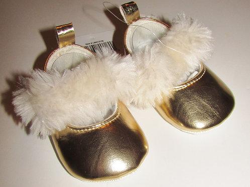Little Me shoe w/faux fur size 1