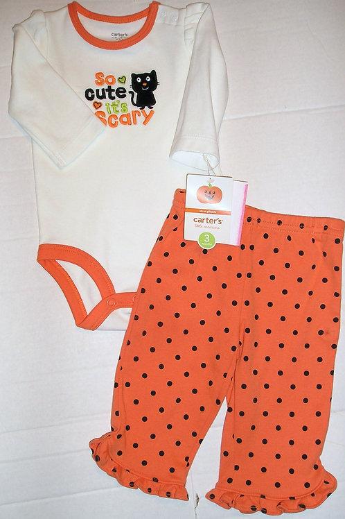Carters white/orange size N