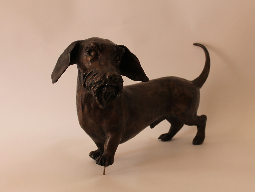 Dachshund. Bronze Signed. Editions 1/22
