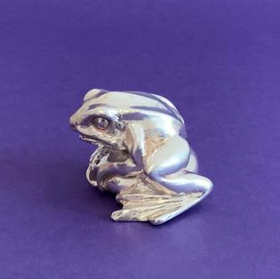 Little Frog. Silver Sculpture.