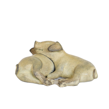 Sleeping Piglets. Sculpture.