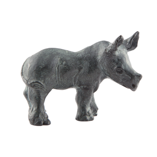The Rhino Calf. Sculpture.