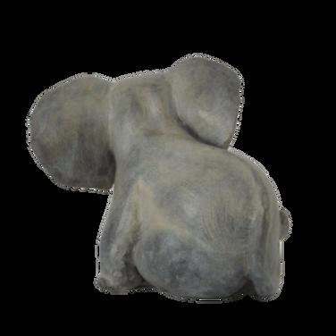 Sitting Elephant. Sculpture.
