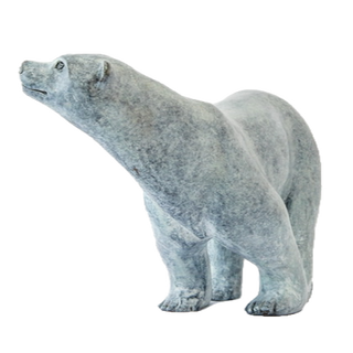 Polar bear. Sculpture.