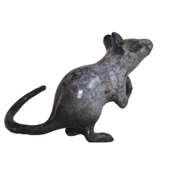 Mouse with berry. Sculpture_