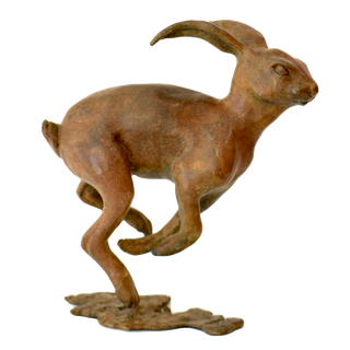 The Hare. Sculpture.