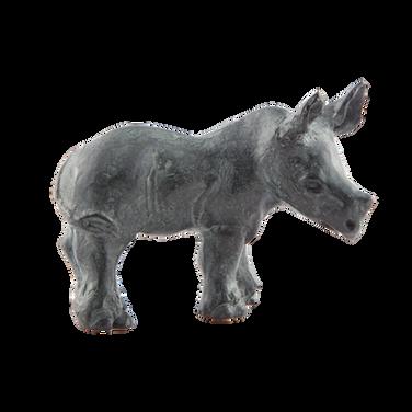Rhino Calf. Sculpture.