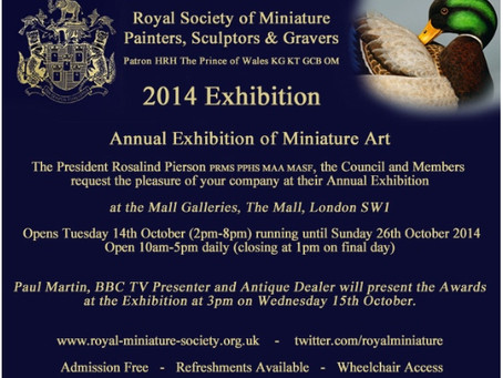 ROYAL SOCIETY OF MINIATURES. The Mall Gallery. London.
