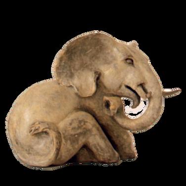 Seated Elephant. Sculpture