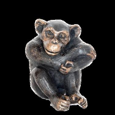 Contemplating Chimpanzee. Sculpture.