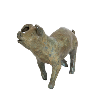 Jaunty Pig. Sculpture.