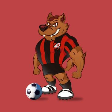 Lobotel, criação do mascote do clube de futbol Batel, de Guarapuava - Paraná.