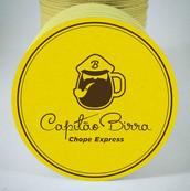 Contrução da marca Capitão Birra Chope Express, uma caneca ou um capitão? Ou quem sabe as duas coisas.