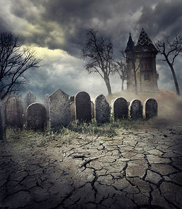 creepy graveyard halloween