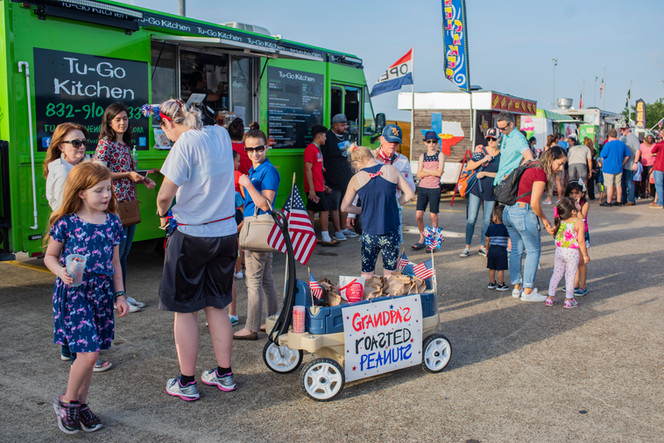 Grab some dinner from a food truck