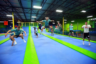 Have a bouncing good time at this trampoline park.