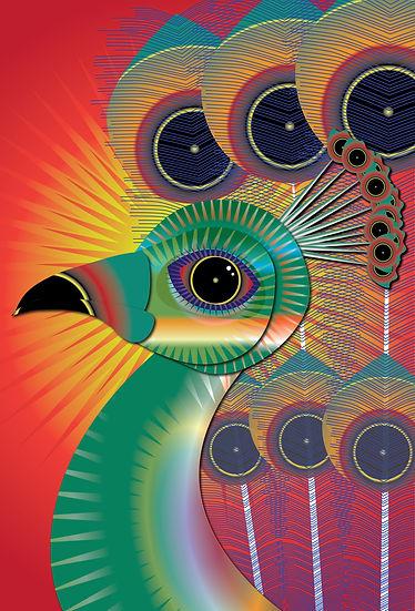 Colorful Bird Art