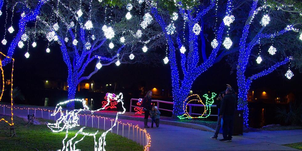 Moody Gardens Festival of Lights in Galveston
