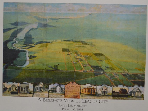 Historic Art | A Birds-Eye View of League City