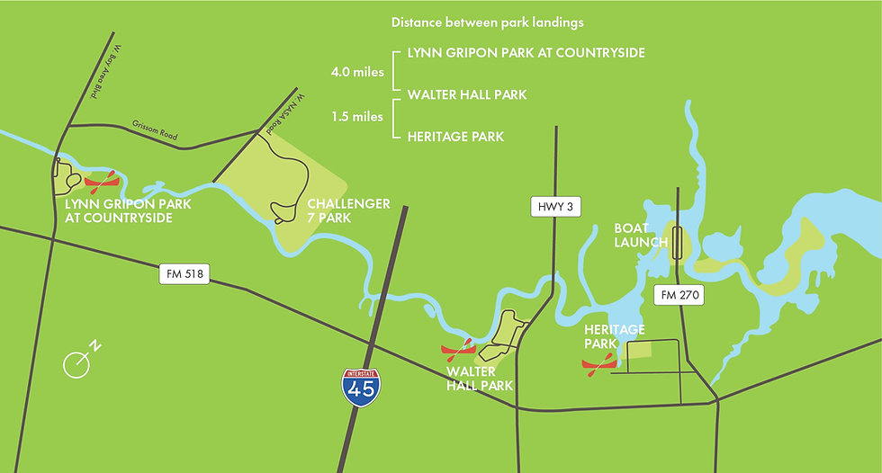 Clear Creek Paddle Trail Map