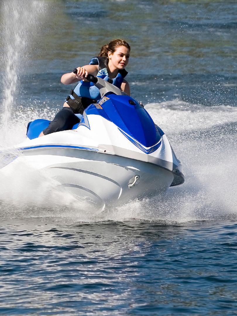 Jet ski on Clear Lake