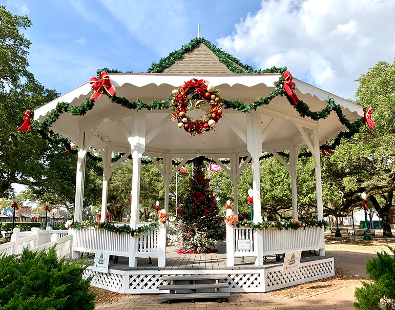 League Park Gazebo at Christmas