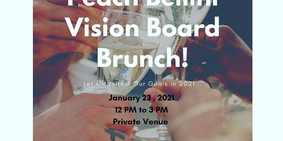 BreatheCation's Peach Bellini Vision Board 2021 Brunch