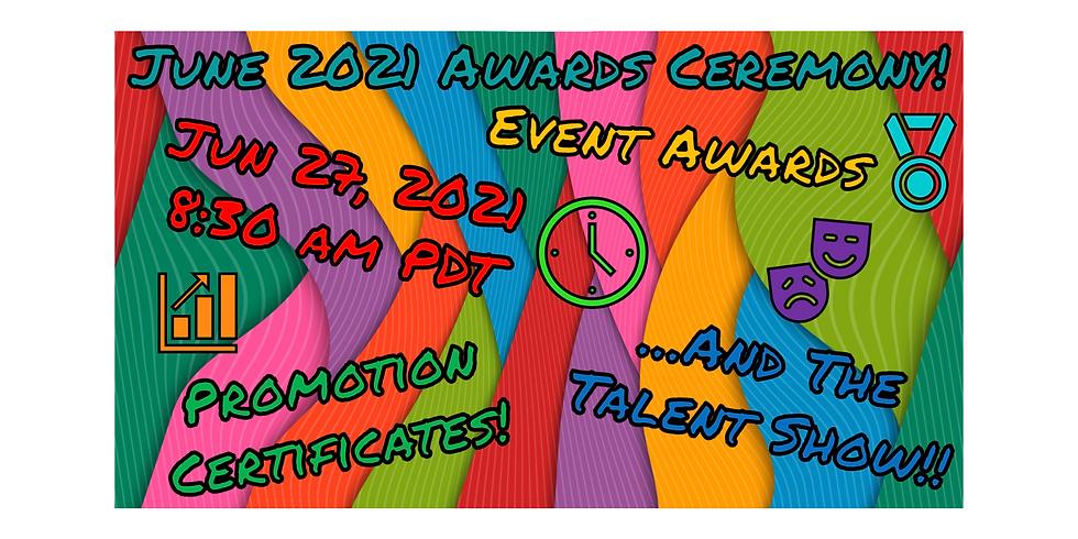 June 2021 Awards Ceremony