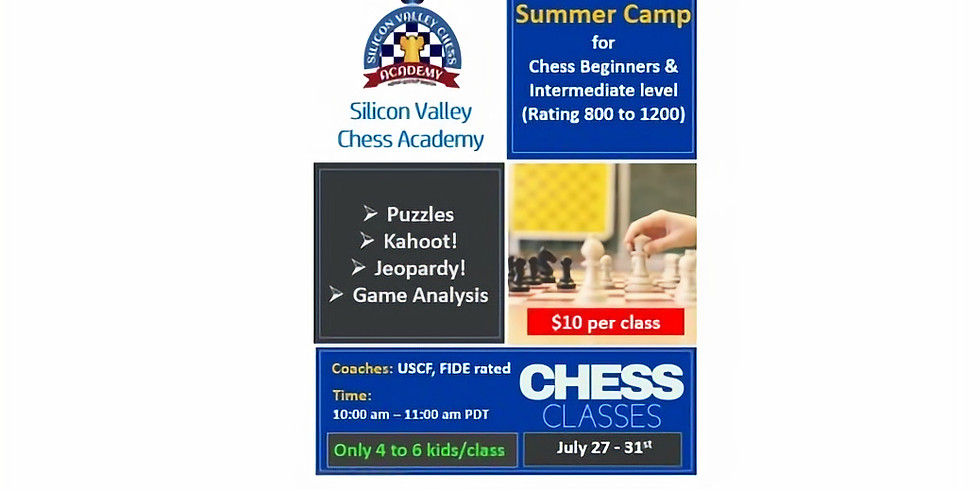 Summer Camp for Bright Bishop (Intermediate Chess)