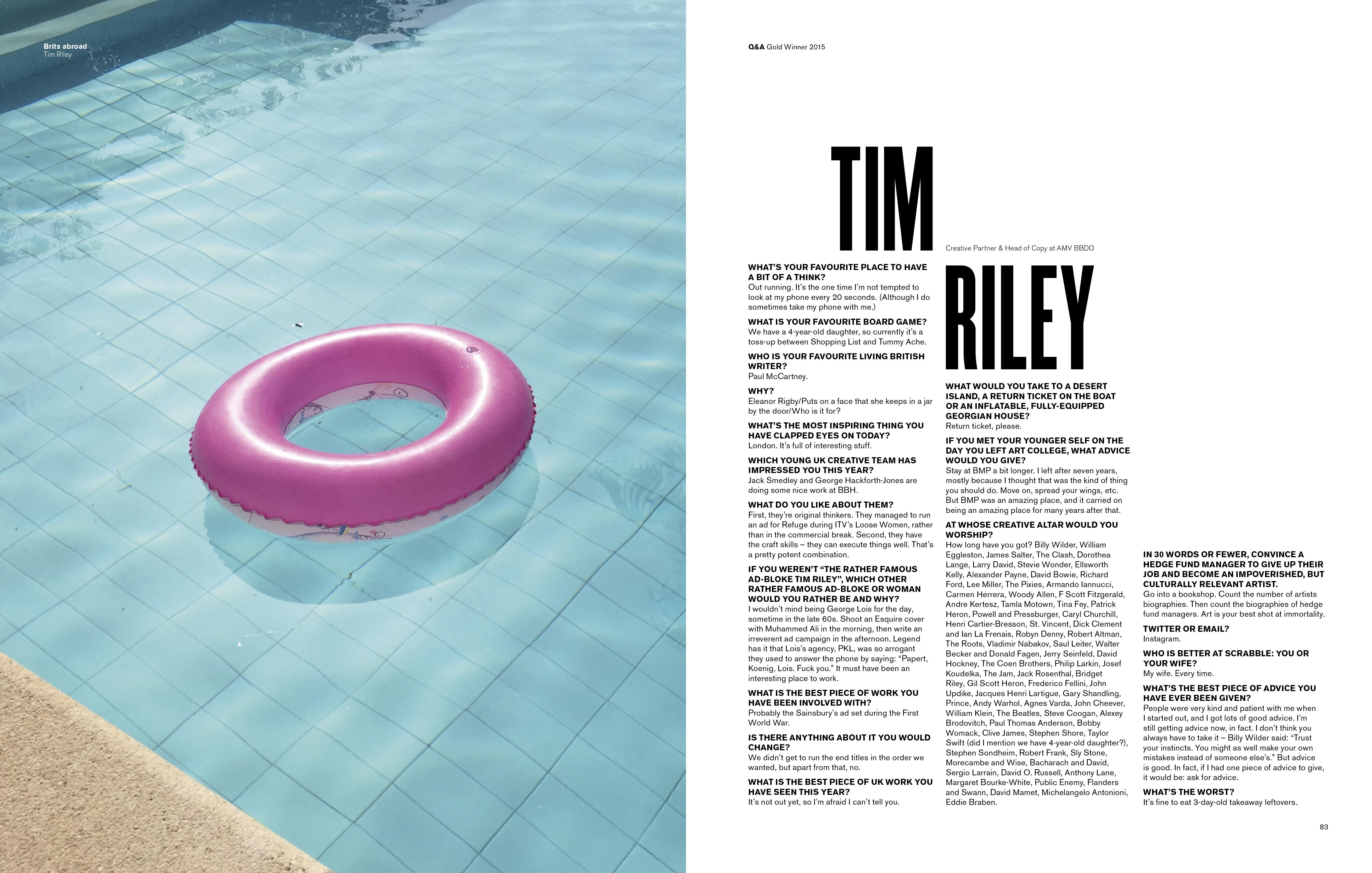 Tim Riley Interview