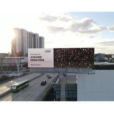 """Miami, USA du 1 au 6 décembre 2020 (Art Basel week) Mon tableau """"Feu d'artifice"""" sur panneau publicitaire digital géant  62 m2"""