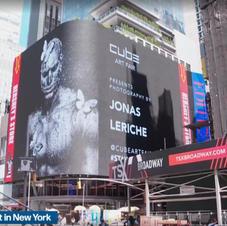 Jonas Leriche, artiste belge présent à Time Square pour Cube-Art Fair