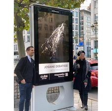 """Bruxelles, du 6 au 12 octobre 2020. Participation avec deux oeuvres """"L'envol 1"""" et """"Mer du Nord"""" à l'exposition Art Beyond Borders, organisée par le galeriste Gregoire Vogelsang."""