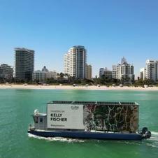"""Miami, USA du 1 au 6 décembre 2020 (Art Basel week) Mon tableau """"Feu d'artifice"""" sur panneau publicitaire digital géant"""