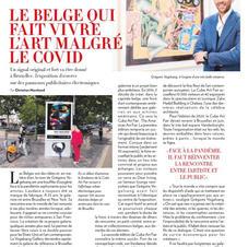 Article de presse dans Paris Match du 8 au 14 octobre 2020