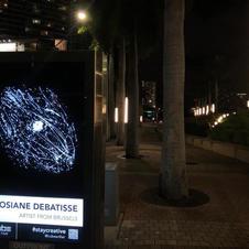 """Miami, USA du 1 au 6 décembre 2020 (Art Basel week) Mon tableau """"Galaxie 6"""" exposé sur panneau publicitaire dans les quartiers, Wynwood, Design, Brickell, au centre ville de Miami ainsi que dans les rues du nouveau centre Mondial de Miami."""