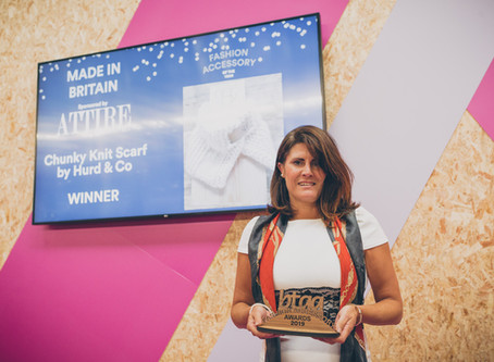 Client News: Hurd & Co win Fashion Accessory of the Year 2019 Award