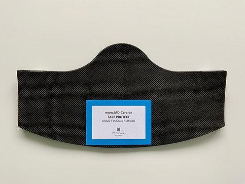 Klebende Besucher / Kunden / Behelfsmaske Unisex in schwarz