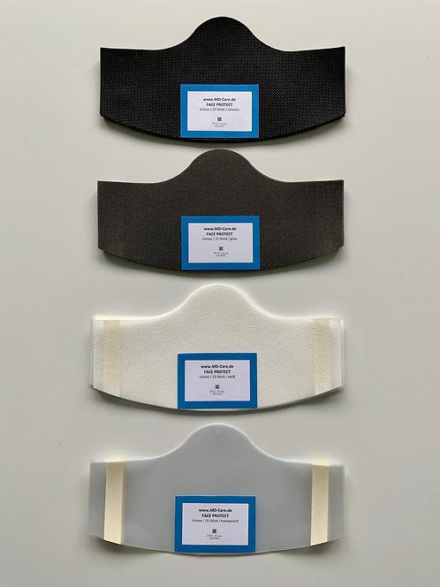 Klebende Besucher / Kunden / Behelfsmaske Unisex in 4 Farben