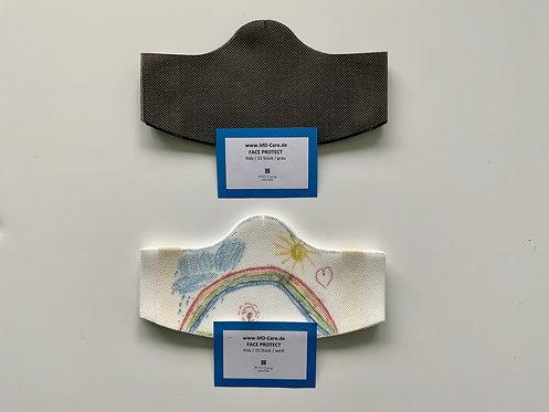 Klebende Besucher / Kunden / Behelfsmaske Unisex for Kids in weiß oder grau
