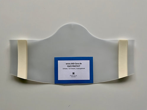 Klebende Besucher / Kunden / Behelfsmaske Unisex in transparent