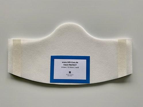 Klebende Besucher / Kunden / Behelfsmaske Unisex in weiß