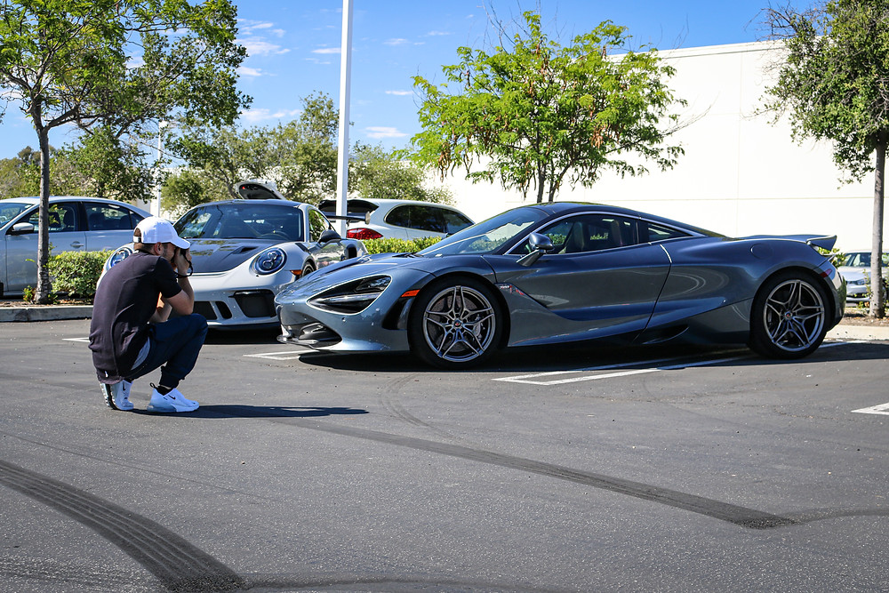 Grey McLaren 720s and Porshe GT3RS