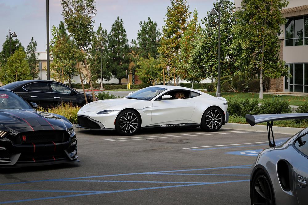 Galpin's White Aston Martin Vanquish