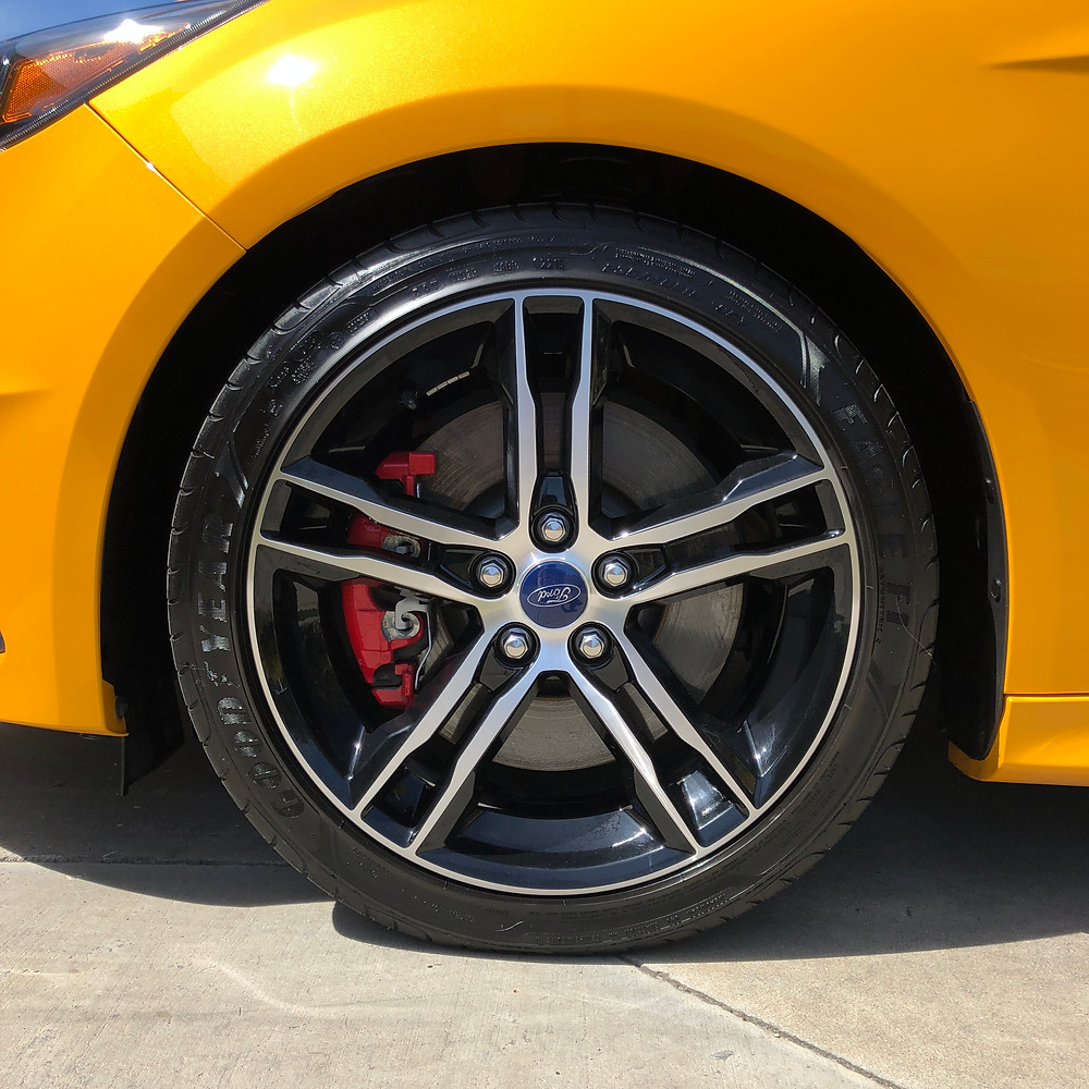 polished ford wheel and rim