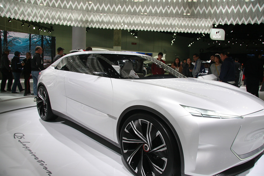 Front of Infiniti's new QS Inspiration