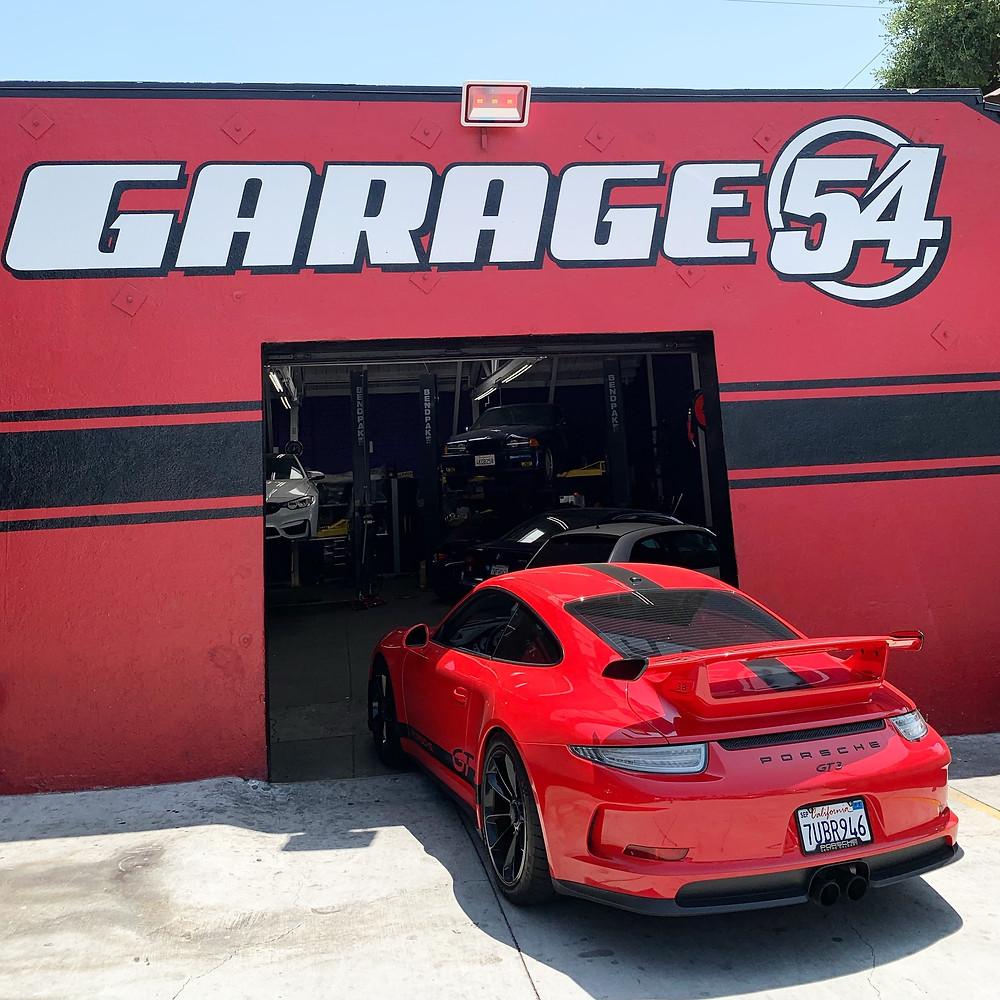 Red Porshe GT3 at Garage 54
