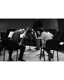 During Rehearsal_______________#bw #mono
